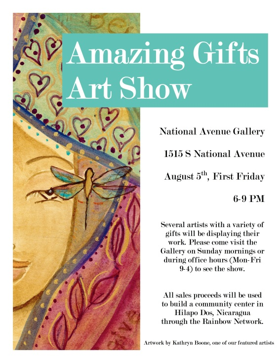 Amazing Gifts Artshow Flyer 2