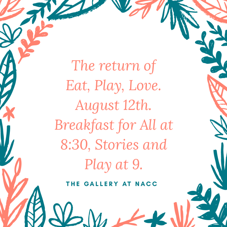 Eat, Play, Love August 18